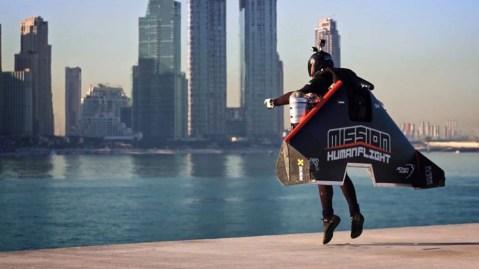 Jetman Dubai's Vince Reffet in flight