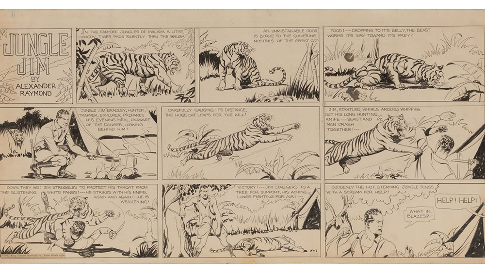 Jungle Jim Comic Strip