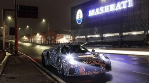 Maserati's MC20 prototype in camouflage