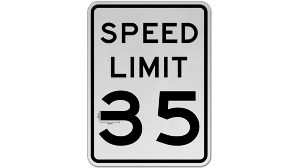 McAfee's altered 35 mph sign