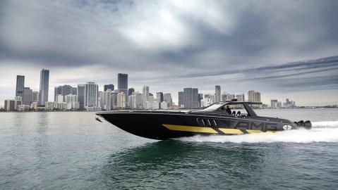 Mercedes-AMG x Cigarette Racing powerboat