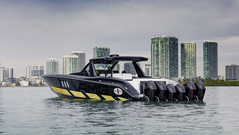 Mercedes-AMG x Cigarette Racing Powerboat