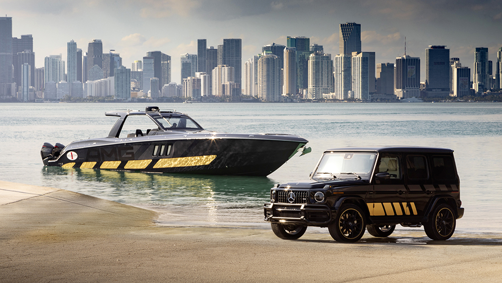 Mercedes-AMG Cigarette Racing 2020 Powerboat and G-Wagen