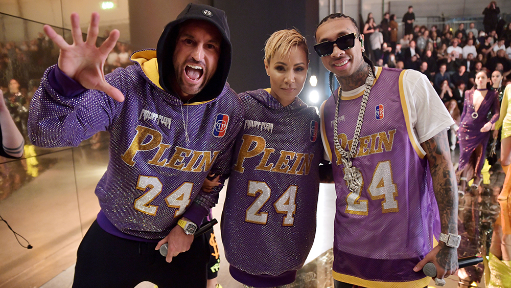 Philipp Plein, Jada Pinkett Smith and Tyga in the front rowPhilipp Plein show, Front Row, Fall Winter 2020, Milan Fashion Week, Italy - 22 Feb 2020