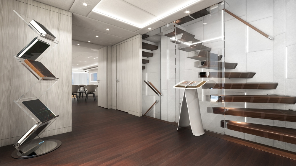 Heesen Project Electra Hybrid Superyacht atrium