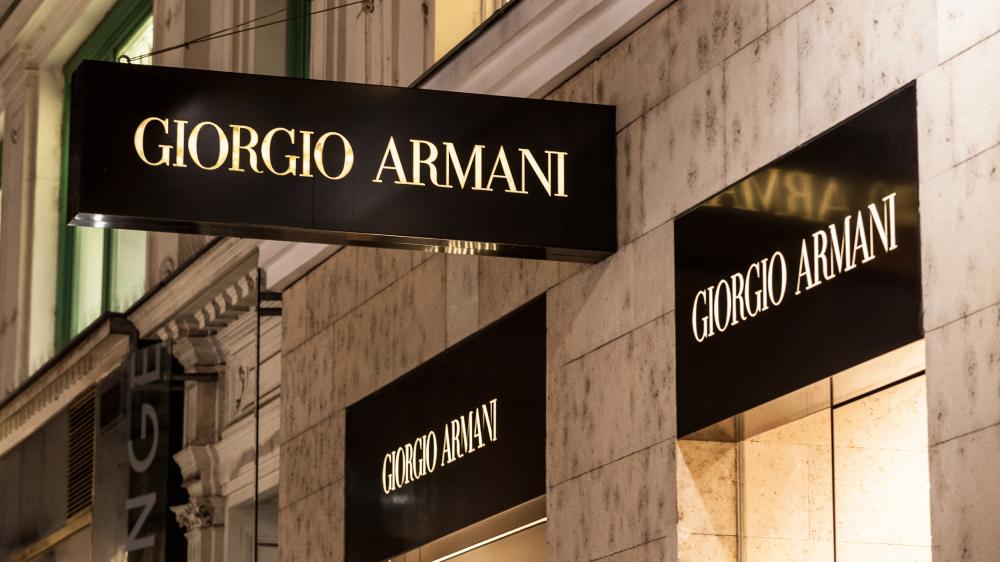 Giorgio Armani store sign