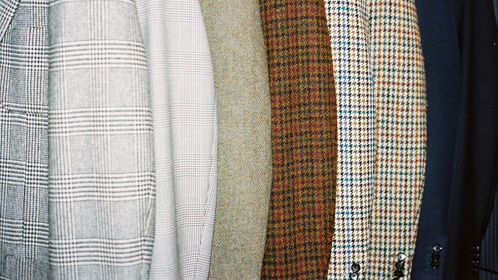 Jackets in cool to warm hues at Husbands, in Paris.