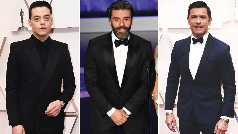 Rami Malek in Cartier, Oscar Isaac in Omega, Mark Consuelos in Rolex