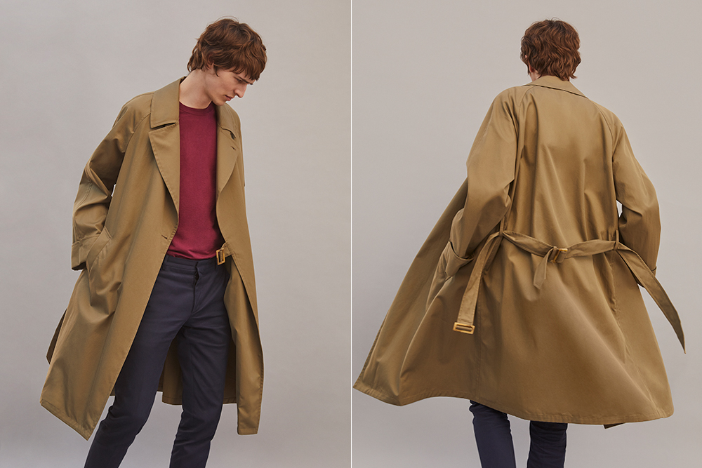 Valstar's raglan sleeve trench coat