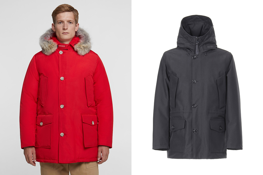 Woolrich Arctic Parka and Mountain Parka side by side