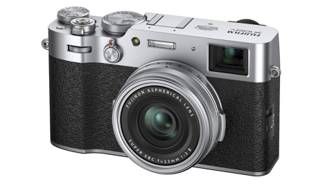 The FujiFilm X100V compact camera
