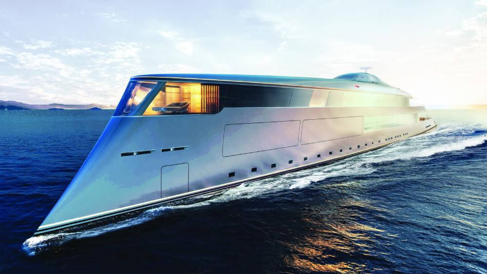 Sinot 367-foot Aqua yacht