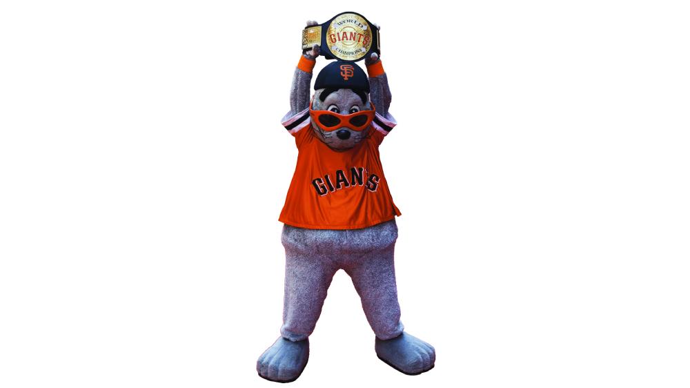 Lou Seal mascot