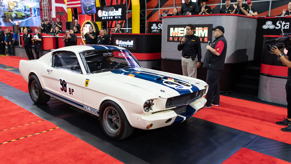 The Shelby GT350R Prototype being previewed by Mecum Auctions in Glendale, Ariz.