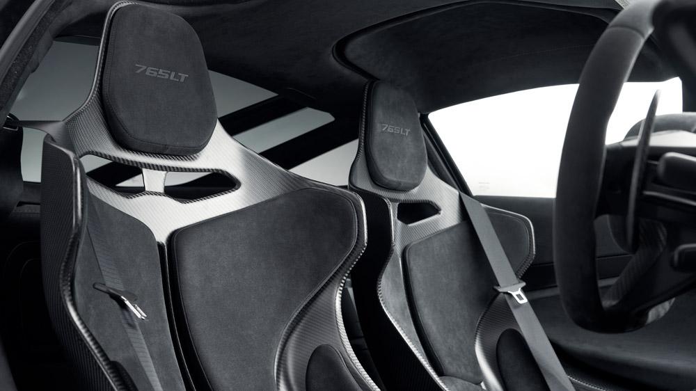 Inside the McLaren 765LT.