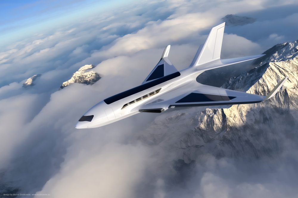 This business jet runs on air friction