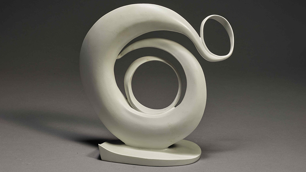O'Keeffe, Abstraction, first modeled in 1946