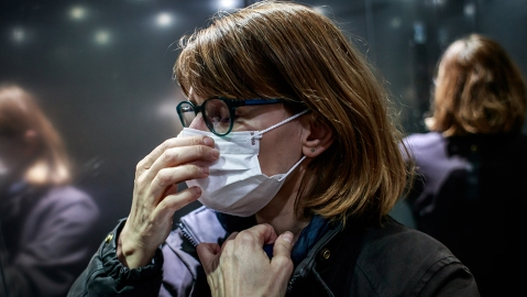 A day in the life of a home care nurse amid the coronavirus pandemic, Paris, France - 20 Mar 2020