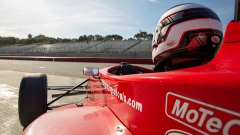 Driving at WeatherTech Raceway Laguna Seca with Allen Berg Racing Schools.
