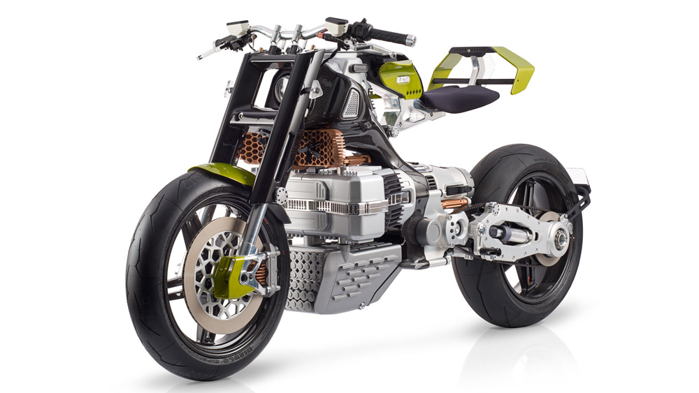 The BST-HyperTEK electric motorcycle.