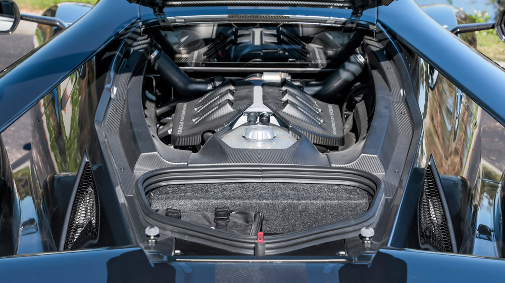 The engine in a Ford GT Competition Series.