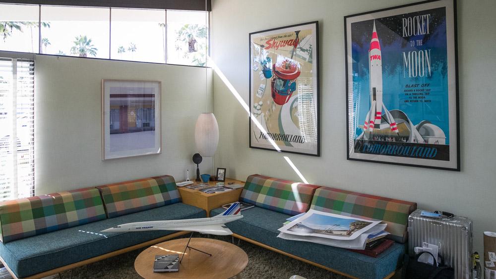 A home interior's Mid-century modern optimism on display.