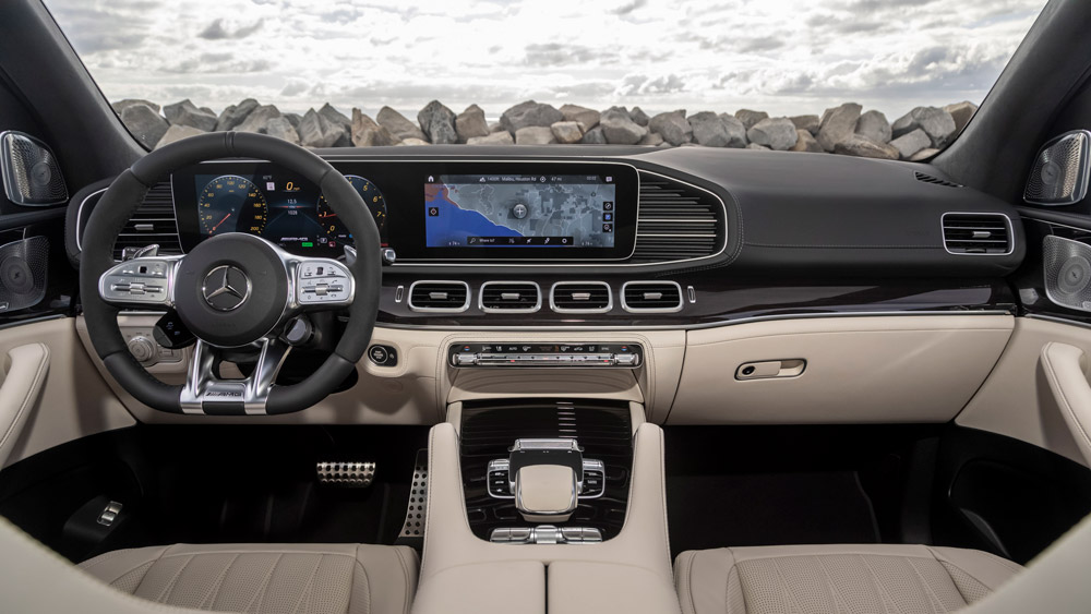 Inside the 2021 Mercedes-AMG GLE 63 S.