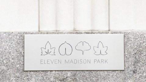 Eleven Madison Park sign