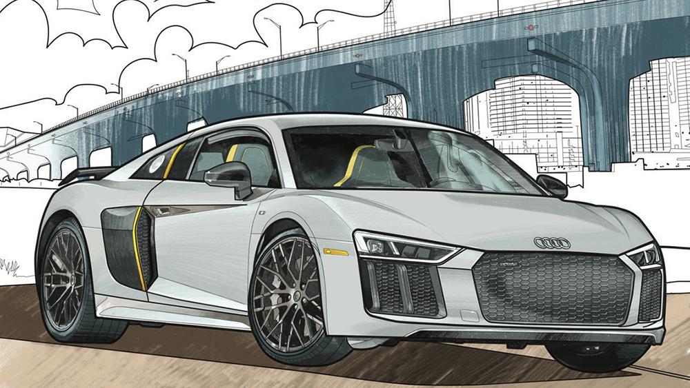 Audi Coloring Book