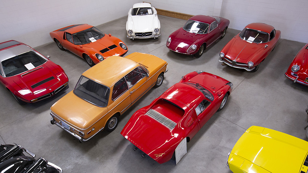 Some of the classic cars in Nicholas Begovich's collection