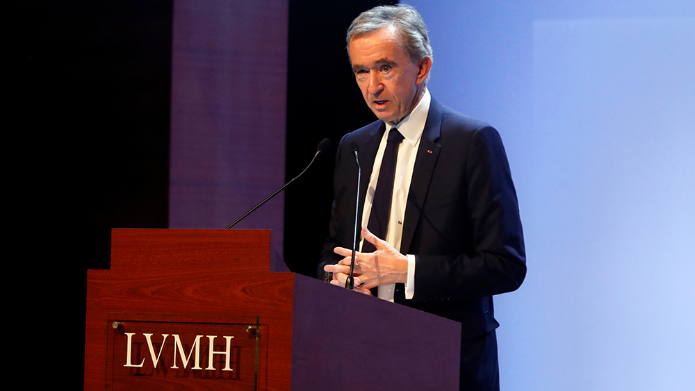 CEO of LVMH Bernard Arnault presents the group's 2019 results during a press conference, in ParisLVMH, Paris, France - 28 Jan 2020