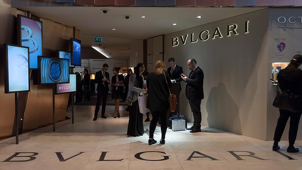 The Bulgari booth at Baselworld 2018