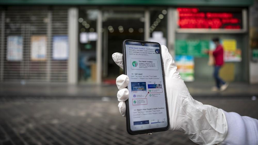 China turns to hi-tech to fight coronavirus, Guangzhou - 26 Feb 2020