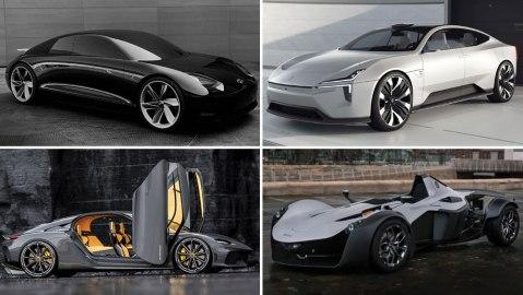 Hyundai Prophecy Concept, Polestar Precept, Koenigsegg Gemera, BAC Mono