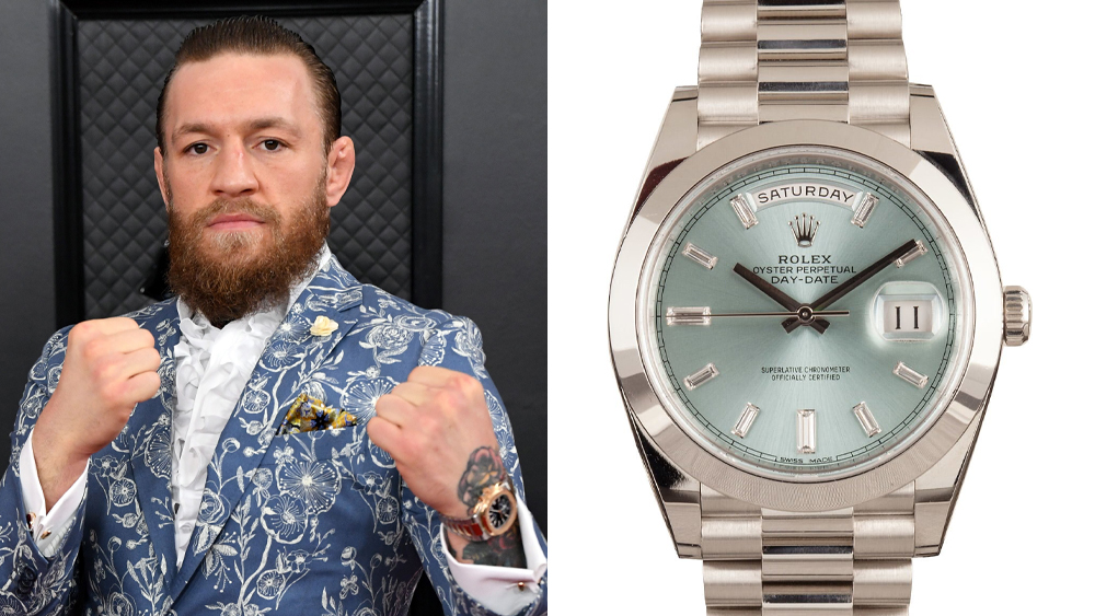 Conor McGregor and a Platinum Rolex Day Date