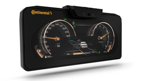 Continental's 3-D display cluster