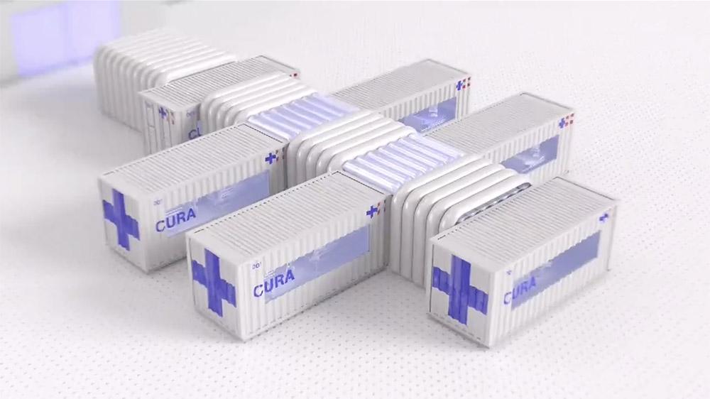 The CURA Pod intensive care unit