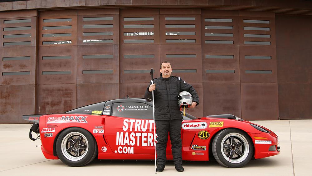 Dan Parker and his Corvette