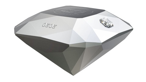 The Royal Canadian Mint's diamond-shaped silver coin