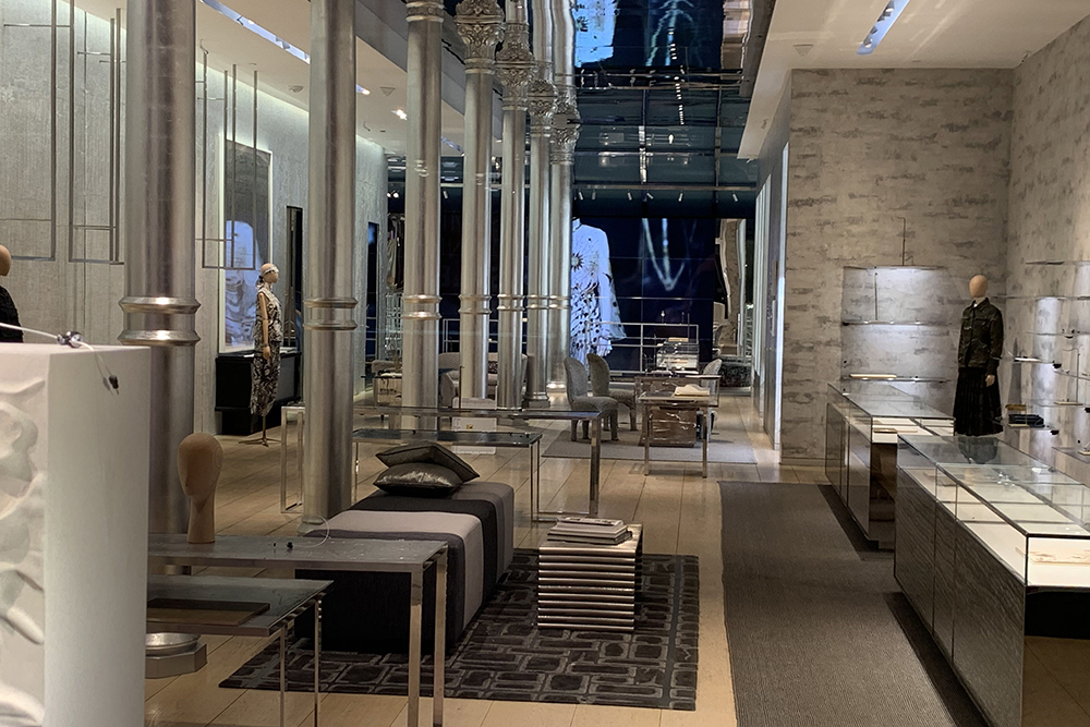 Dior's empty store in New York City's SoHo neighborhood