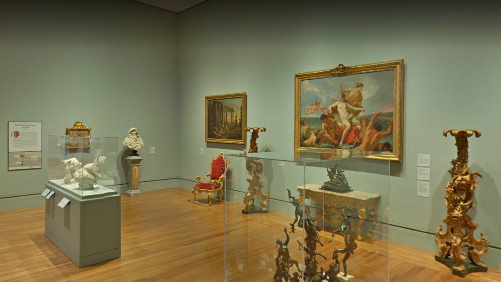 A virtual look at one of the Getty Museum galleries.