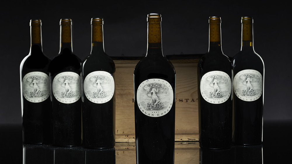 Bottles of Harlan Estate 2001