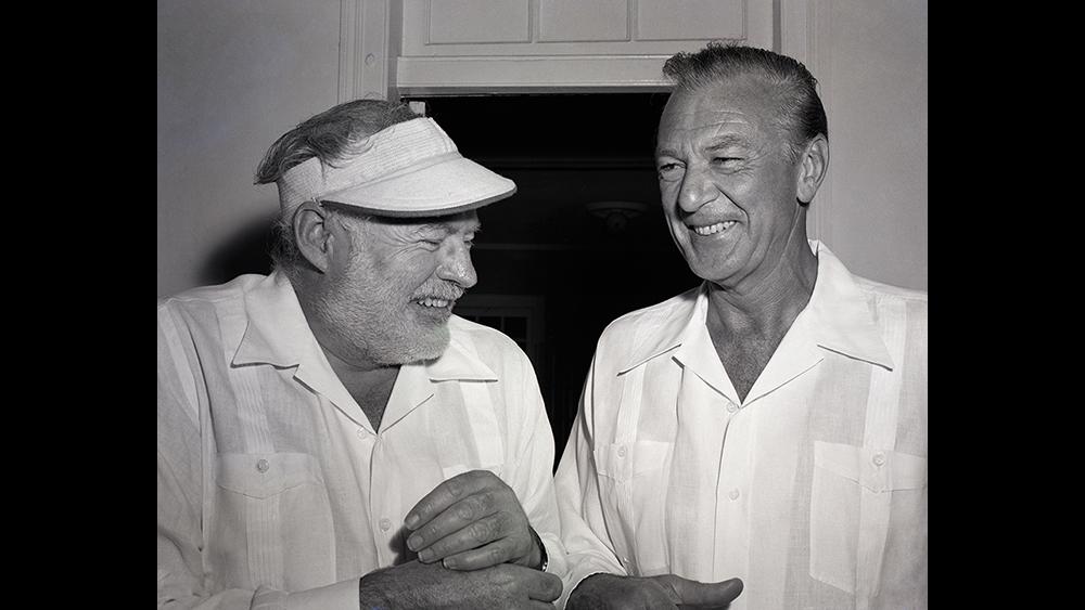 Ernest Hemingway & Gary Cooper in Guayaberas from Camiseria Burgos.