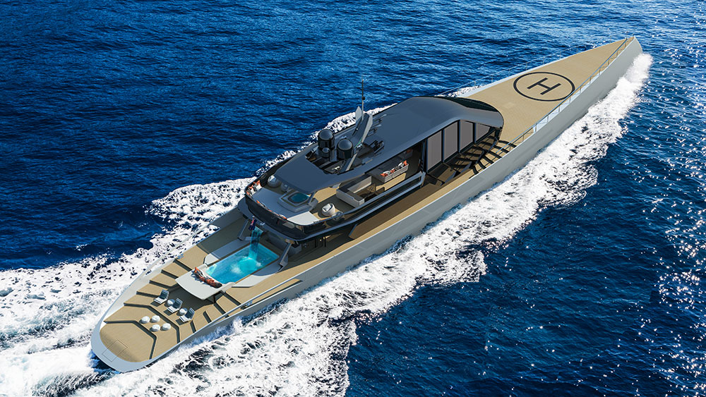 Superyacht Uses Kite Sails for Propulsion