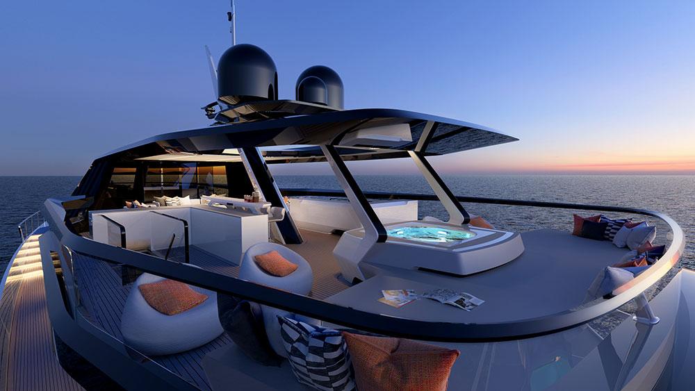 Superyacht has giant kite sail