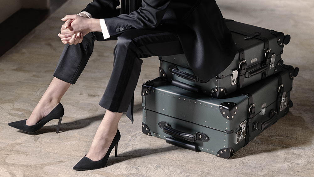 Globe-Trotter's new line of luggage for the forthcoming James Bond movie 'No Time to Die'