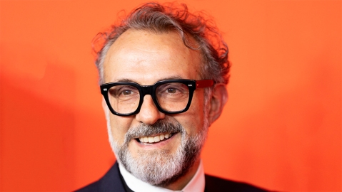 Italian restauranteur Massimo Bottura arrives for the annual Time 100 Gala at the Frederick P. Rose Hall at the Lincoln Center in New York, New York, USA, 23 April 2019. The annual event coincides with Time Magazine's annual list of the 100 most influential people in the world.2019 Time 100 Gala in New York, USA - 23 Apr 2019