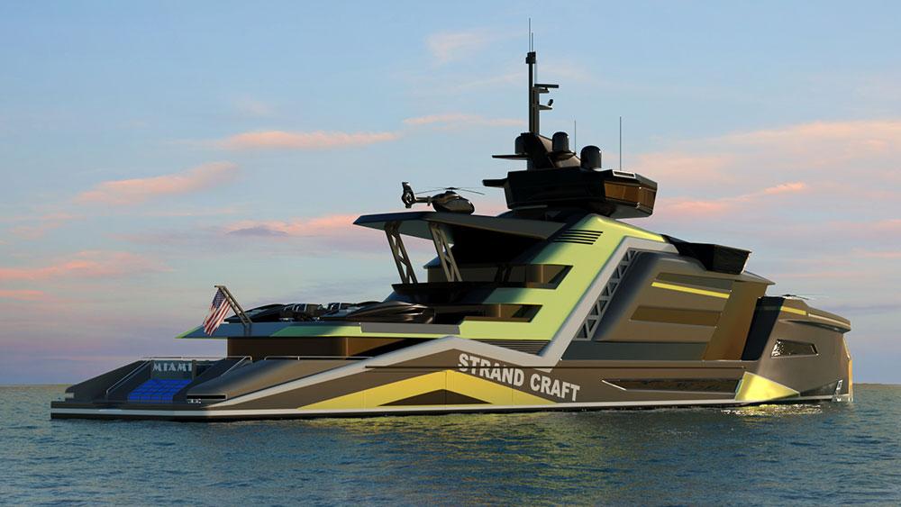 Strand Craft reveals huge 133 meter explorer yacht concept Miami