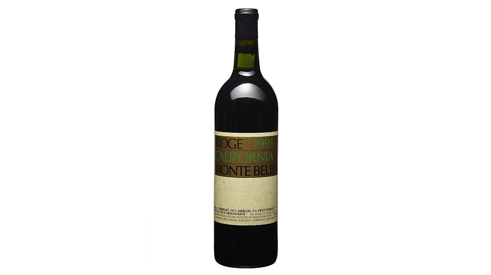 Ridge Vineyards, Monte Bello Cabernet Sauvignon 1991
