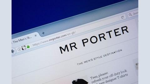 The homepage of MrPorter.com